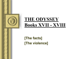 THE ODYSSEY Books XVII
