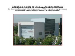 CONSEJO GENERAL DE LAS CAMARAS DE COMERCIO Las …