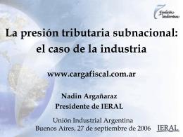 Coyuntura Argentina - UIA