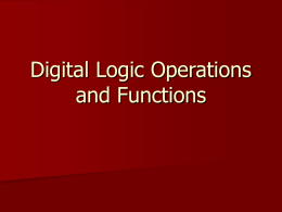 Digital Logic Functions