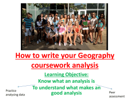 How to write your Geography coursework analysis