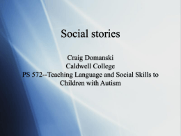 Social stories - Caldwell University