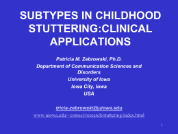 STUTTERING RESEARCH AND TREATMENT