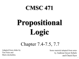 Propositional Logic Slides - SEAS