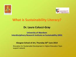 Laura Colucci-Gray Presentation