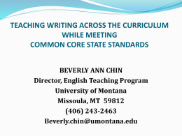 Successful of Teaching Writing for School and Beyond