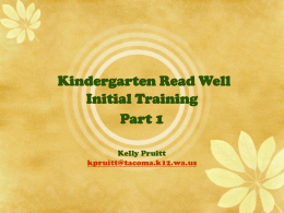 Read Well Kindergarten