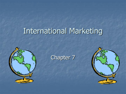 International Marketing - University of Rio Grande