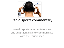 Radio sports commentary