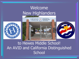 Welcome New and Returning Hewes Parents!