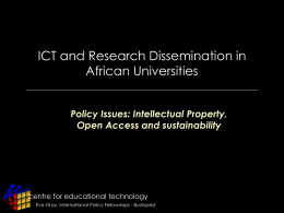 ICTs and Research Dissemination in African Universities