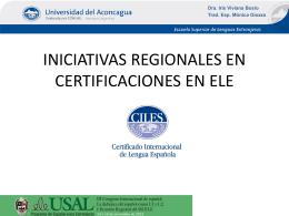 INICIATIVAS REGIONALES EN CERTIFICACIONES
