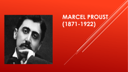 MARCEL PROUST (1871-1
