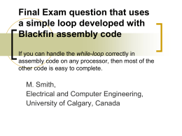 Final exam question involving building a simple loop using
