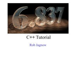 6.837 C++ Tutorial - MIT Computer Science and Artificial