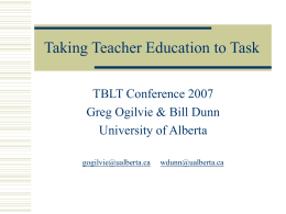 Taking Teacher Education to Task