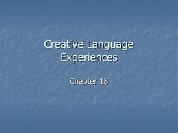 Creative Language Experiences