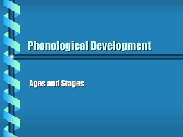Phonological Development