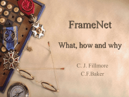 FrameNet - Courses | UC Berkeley School of Information