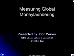 Measuring Global Moneylaundering