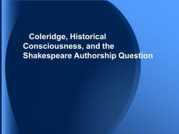 Coleridge 7 HW