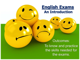 Y10 Exams An Introduction - Netherhall Learning Campus