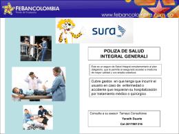 Diapositiva 1 - FEBANCOLOMBIA