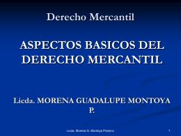 ASPECTOS BASICOS DEL DERECHO MERCANTIL