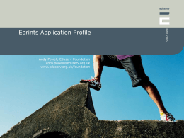 Eprints Application Profile