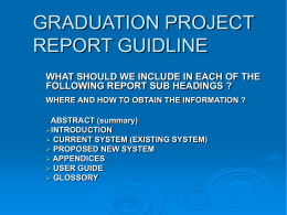 GRADUATION PROJECT REPORT - Emu-SCT