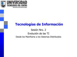 Arquitecturas de T&SI
