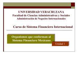 Estructura del Sistema Financiero Mexicano