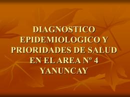 DIAGNOSTICO EPIDEMIOLOGICO Y PRIORIDADES DE …