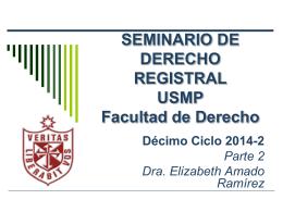SEMINARIO DE DERECHO REGISTRAL USMP Facultad de …