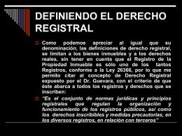 LA PUBLICIDAD REGISTRAL - CEFIC: Centro Peruano de