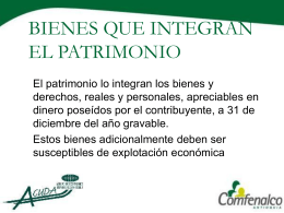 BIENES QUE INTEGRAN EL PATRIMONIO
