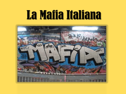 La Mafia Italiana - The Post Primary Languages Initiative