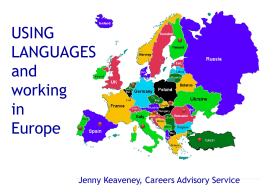 USING LANGUAGES and working in Europe