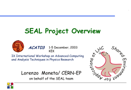 SEAL: Core Libraries and Services Project - www