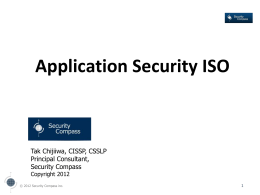 Application Security ISO