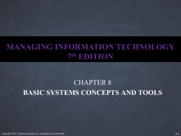 Ch 8 - Basic Systems Concepts and Tools