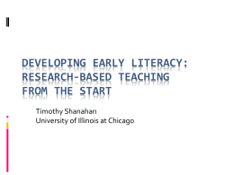 Developing Early Literacy: Researched