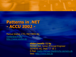 Patterns in .NET
