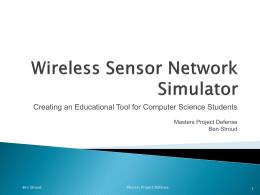 Wireless Sensor Network Simulator