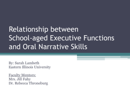 Relationship between School-aged Executive Functions …