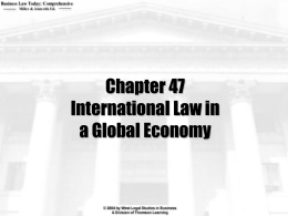 Chapter 47 International Law in a Global Economy