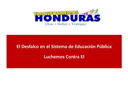 Diapositiva 1 - Transformemos Honduras