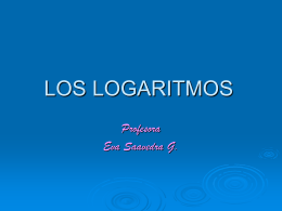 LOS LOGARITMOS
