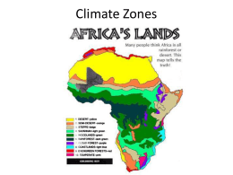 Climate Zones - Hamburg Middle School