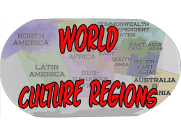 World Culture Regions
